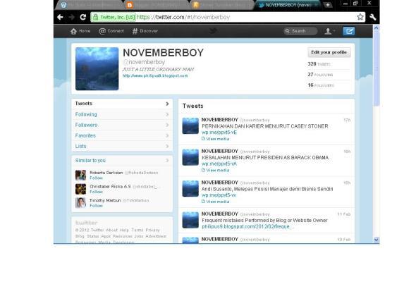 Tampilan Twitter Versi PC Terbaru